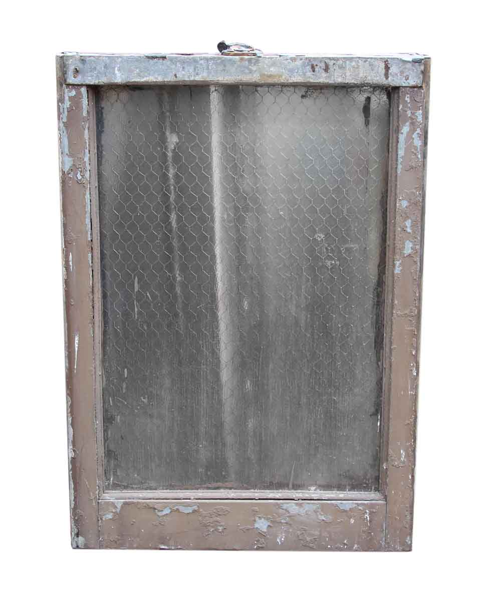 Metal Frame Window Panels : Single panel pebbled chicken wire glass in galvanized
