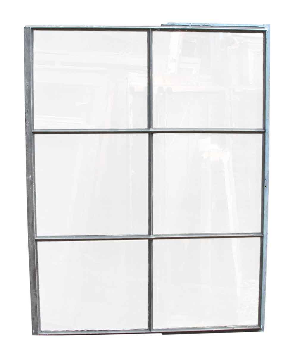 Six Pane Industrial Steel Frame Glass Window | Olde Good Things