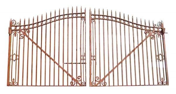 Pair of Large Driveway Iron Gates - Gates