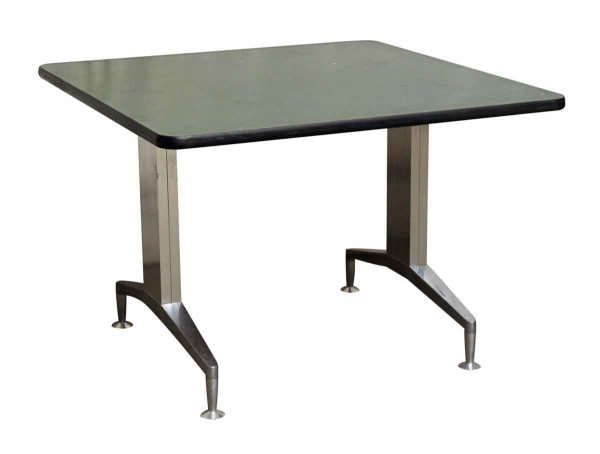 Green Top Table with Aluminum Legs - Kitchen & Dining