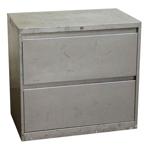 Steel Two Drawer Cabinet - Office Furniture