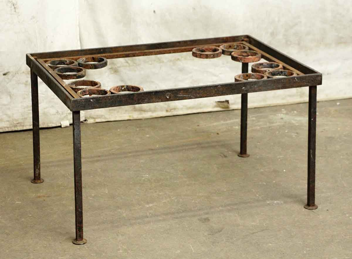 Wrought iron coffee table with spherical details olde good things Wrought iron coffee tables