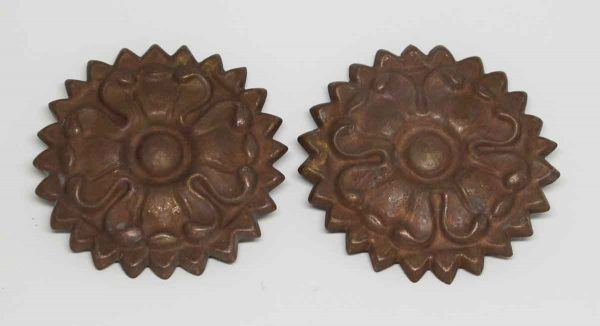 Pair of Copper Floral Appliques - Applique