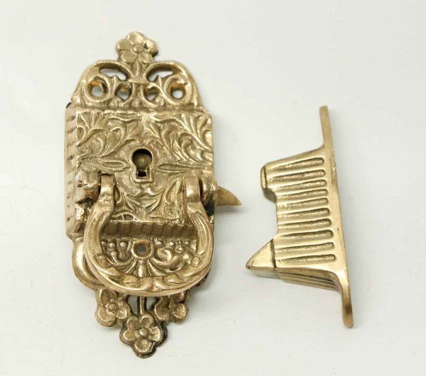 Gilded Victorian Ice Box Latch - Ice Box Hardware