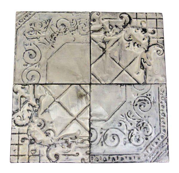 Antique White Corner Tin Panel Set - Tin Panels