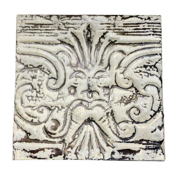 Figural Antique White Tin Panel - Tin Panels