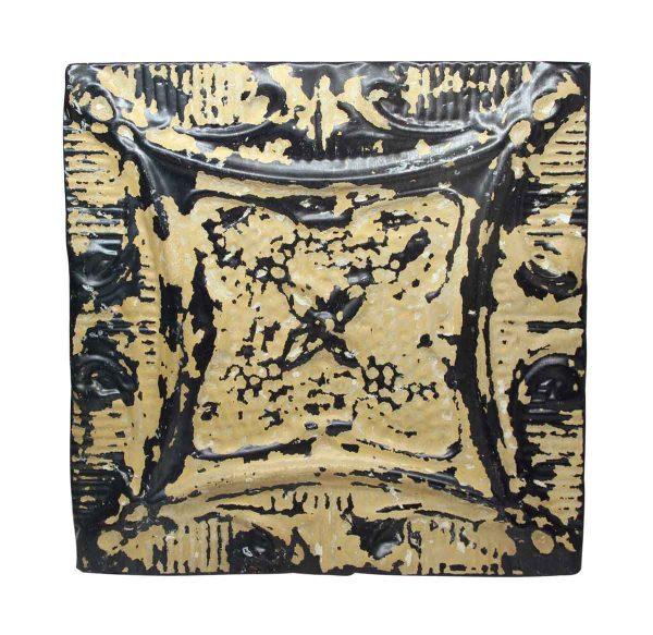 Clover Flower Mixed Tan Antique Tin Panel - Tin Panels