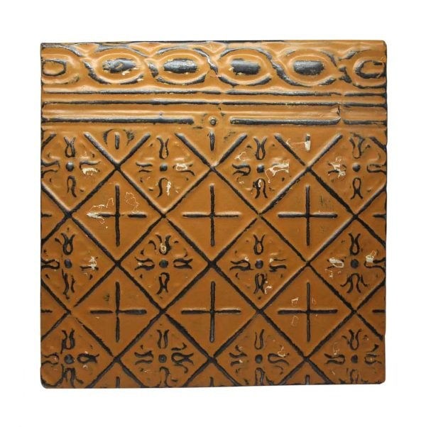 Orange Border Tin Panel - Tin Panels