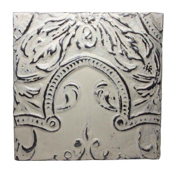 Antique White Center Arch Tin Panel - Tin Panels