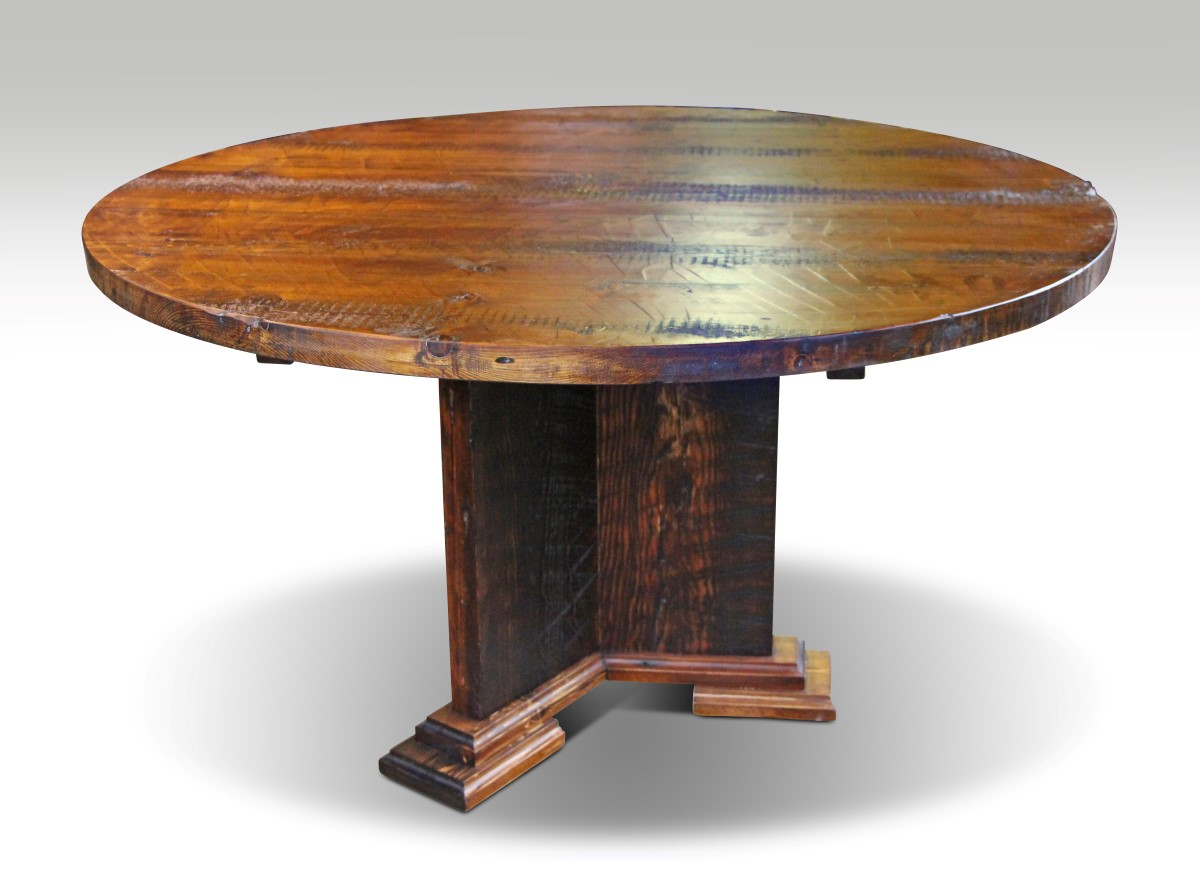 Farmhouse style dining room tables olde good things for Reclaimed wood online