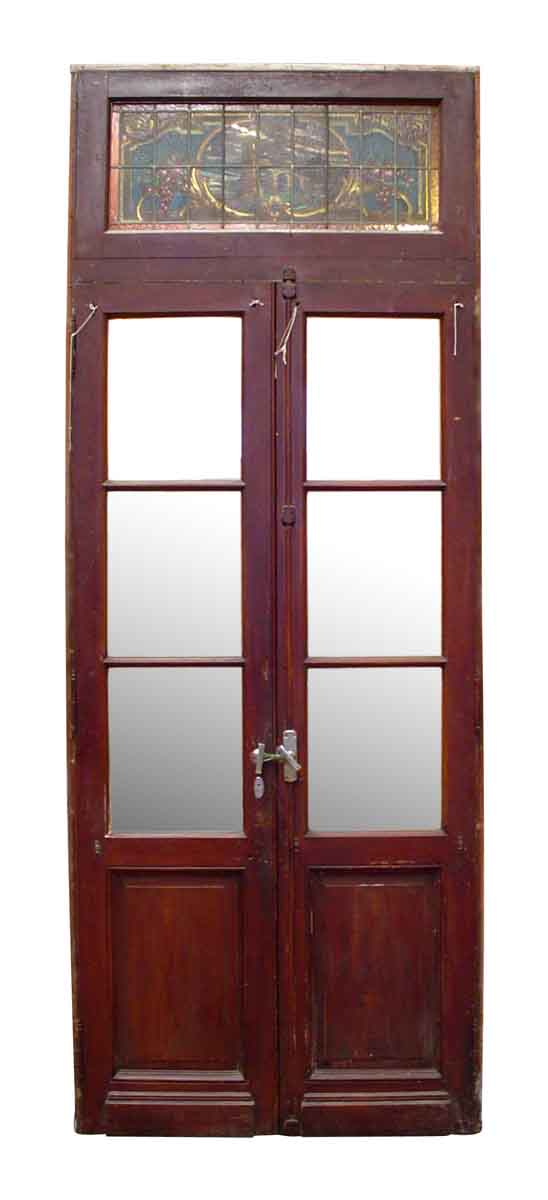 Double Doors With Stained Gl Transom