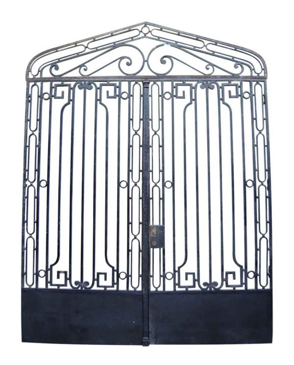 Pair of Art Deco Iron Doors with Glass & Transom - Gates