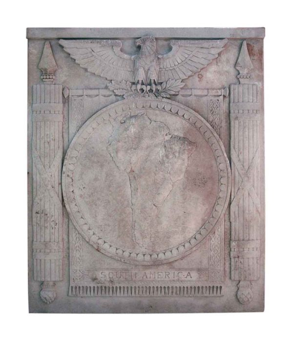 South America Limestone Frieze from Philadelphia Civic Center - Stone & Terra Cotta