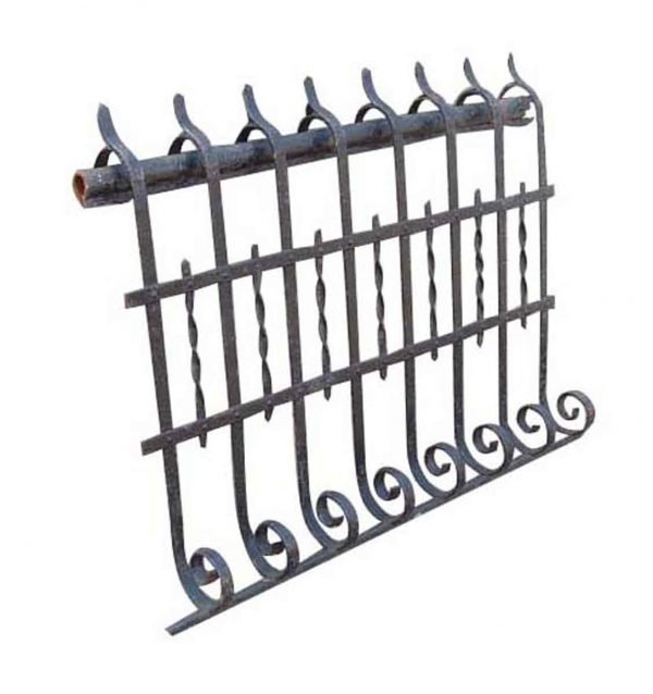 Bowed Balcony Wrought Iron Railing with Twists - Fencing
