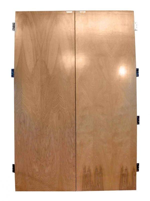 Pair of Large Flush Maple Veneer Double Doors - Commercial Doors