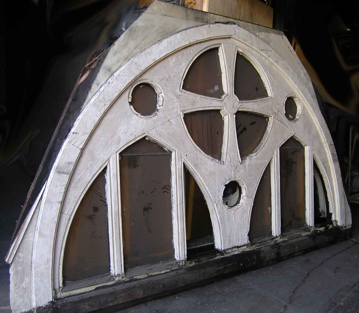 Large Gothic Arched Windows From Toronto Church Olde