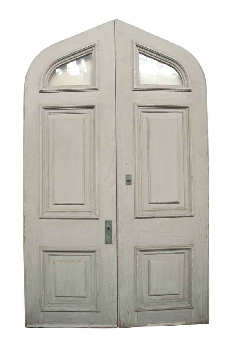 Pair of Large Tudor Style Double Doors with Wavy Glass | Olde Good Things  sc 1 st  Olde Good Things & Pair of Large Tudor Style Double Doors with Wavy Glass | Olde Good ... pezcame.com
