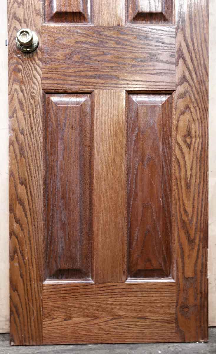 Narrow Colonial Style Raised Panel Oak Door Olde Good Things
