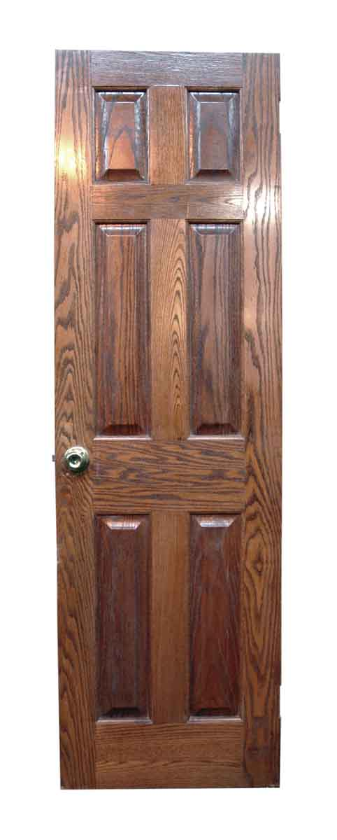 Narrow Colonial Style Raised Panel Oak Door - Standard Doors