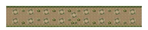 Pink & Green Wreath Antique Tile Wall - Wall Tiles