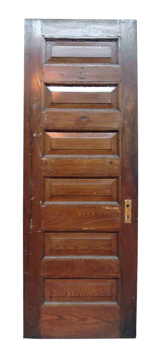 Six Raised Panel Inswing Left Hand Chestnut Door - Standard Doors