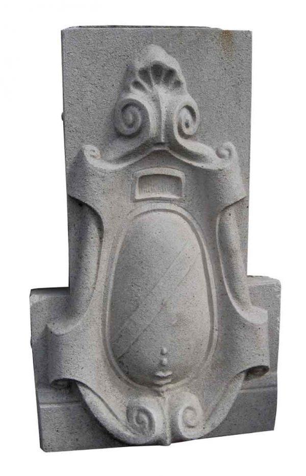 Limestone Building Ornament Cartouche - Stone & Terra Cotta