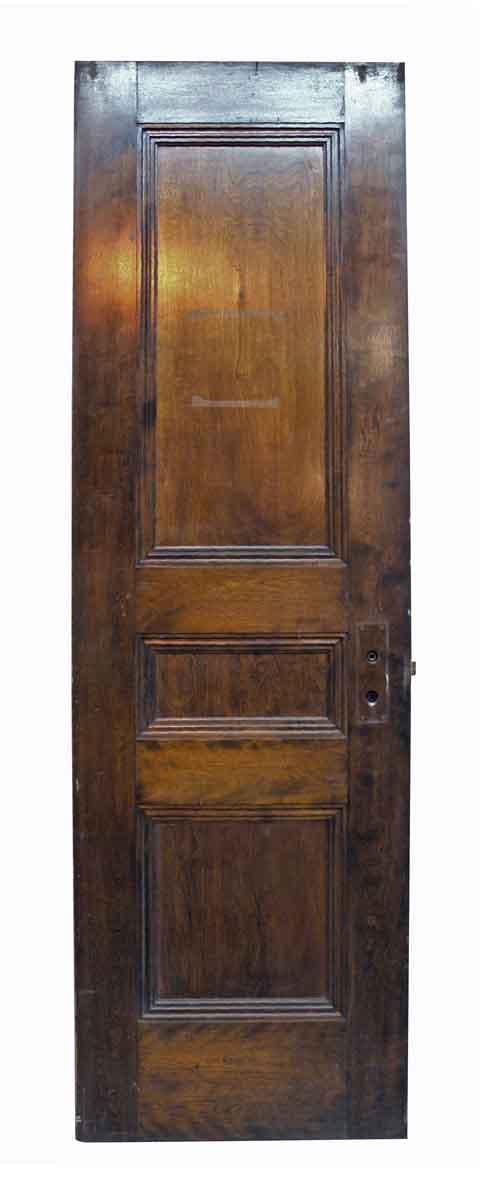 Single Narrow Birch Door with Three Recessed Panels - Standard Doors