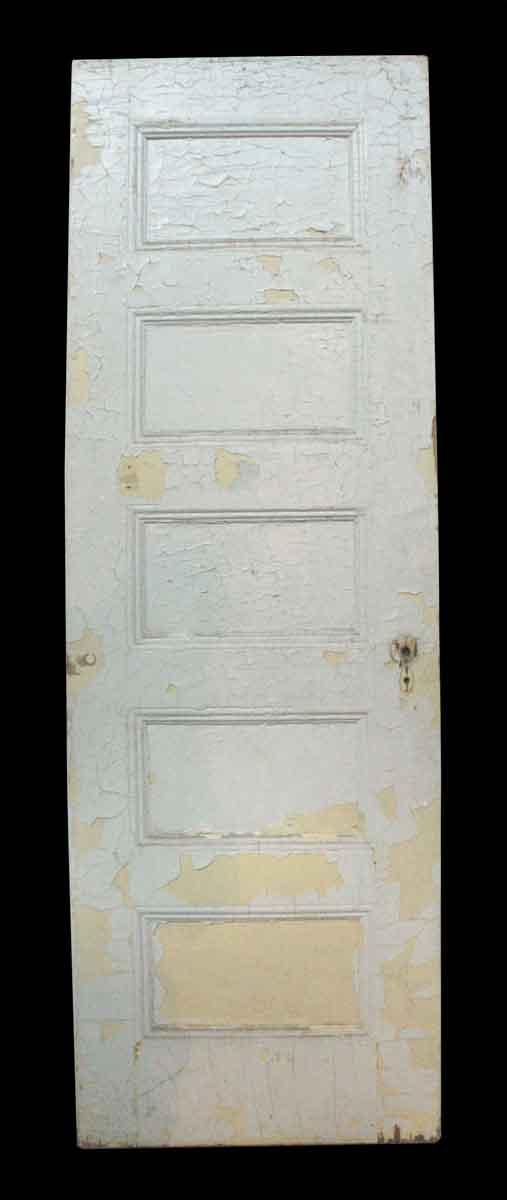 Five Horizontal Recessed Panel Oak White Door - Standard Doors