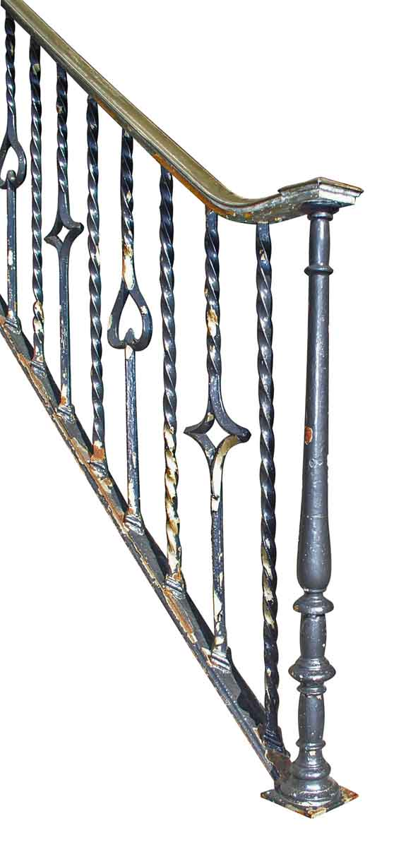 Wrought Iron Stair Railing with Bronze Bannister - Fencing