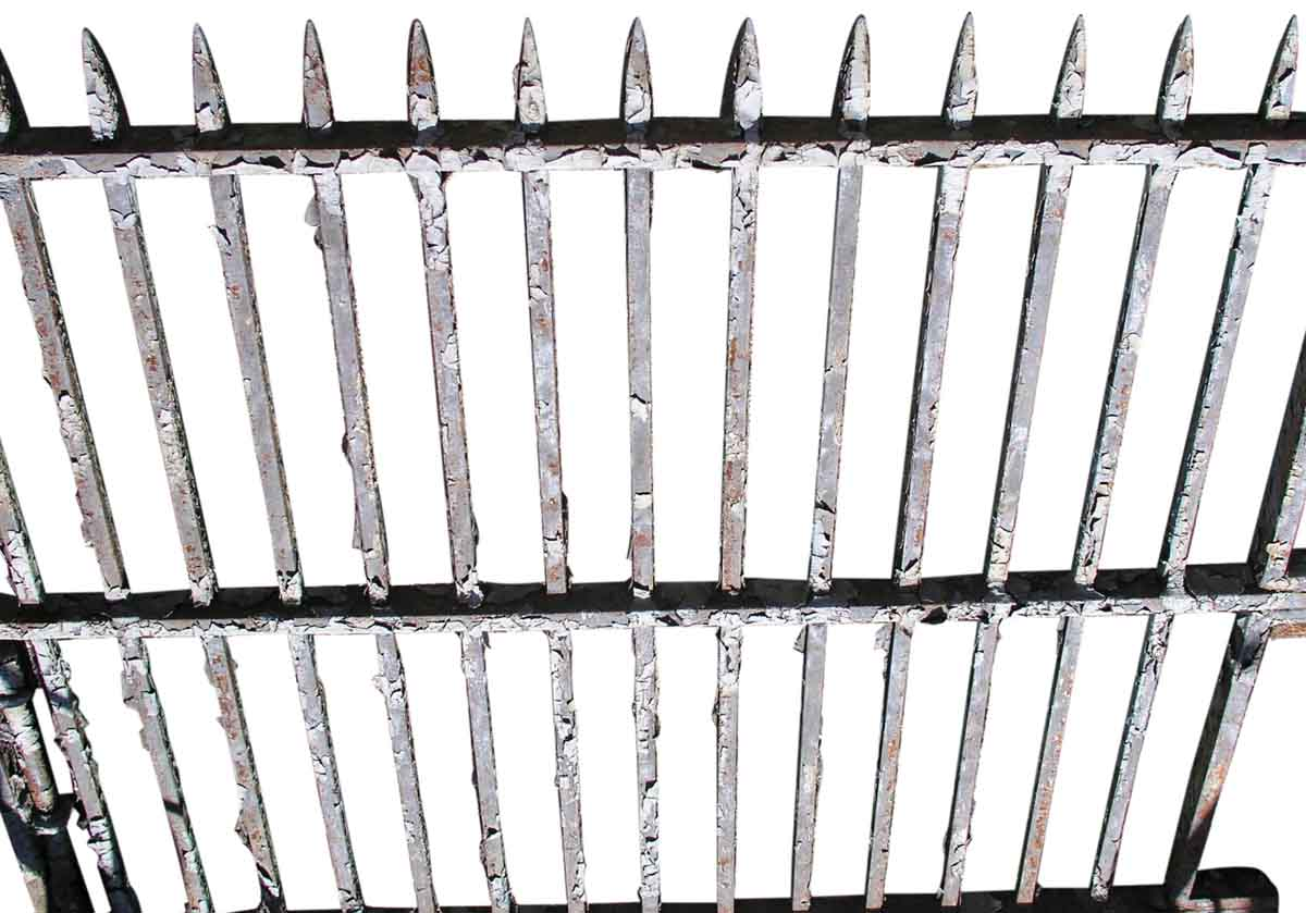 Great Wrought Iron Gates With Spike Finials Olde Good Things