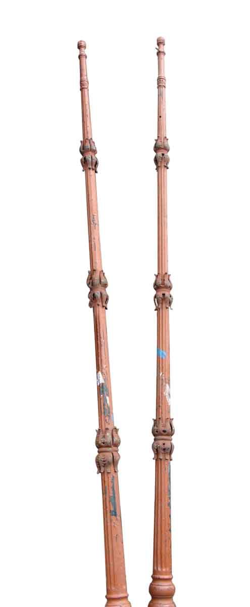 Pair of Iron Lamp Posts - Exterior Materials