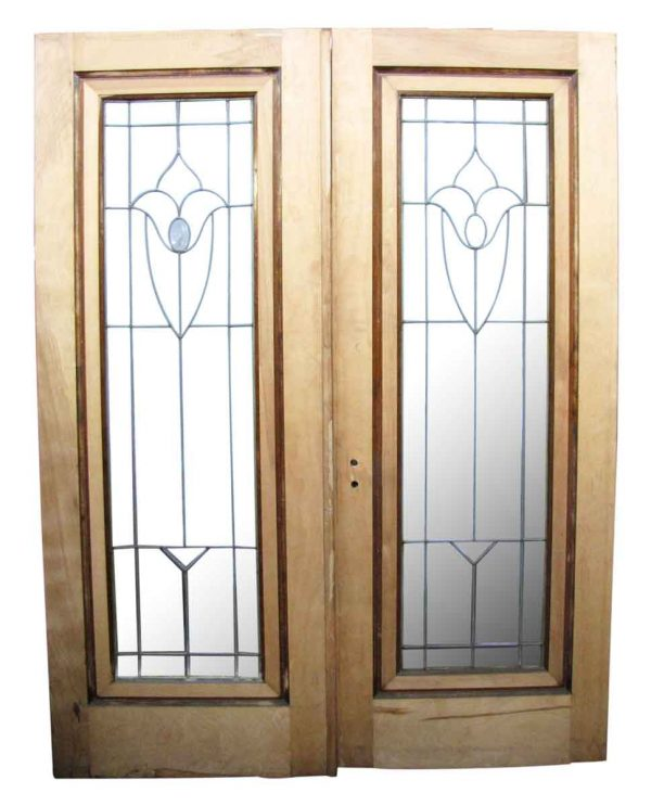 Pair of Leaded Glass Doors - Standard Doors