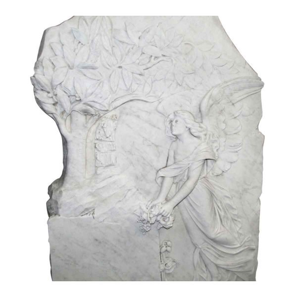 Angel Decorative Marble Wall Carving - Stone & Terra Cotta
