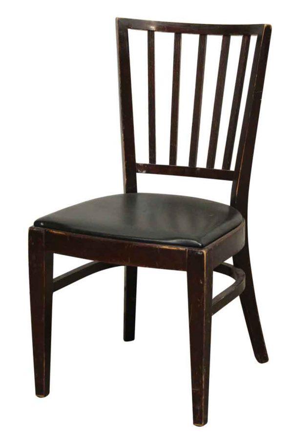 Black Vinyl Seat Chair by Thonet - Seating