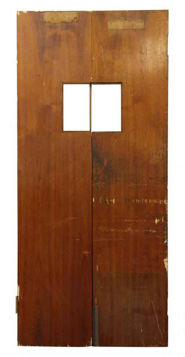Pair of Highly Worn Narrow Doors - Commercial Doors