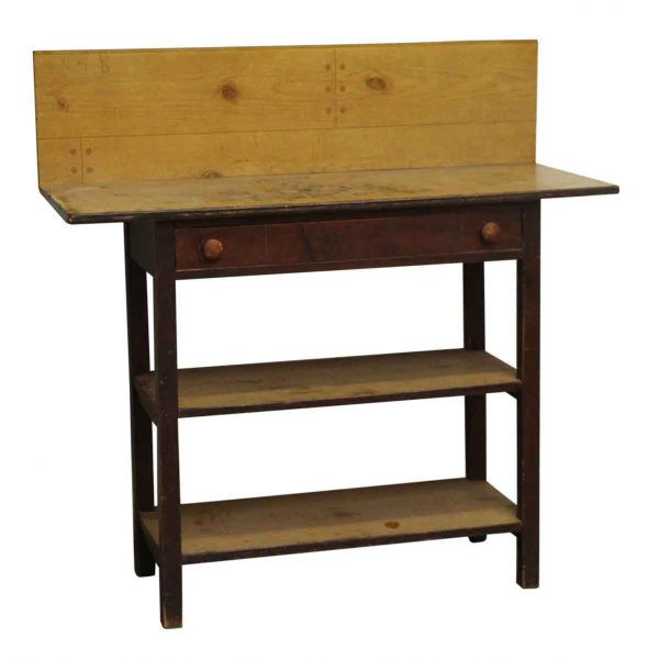 Workbench with Drawer & Shelves - Industrial