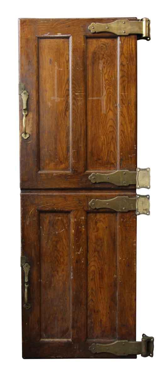 Wooden Refrigerator Doors with Bronze Hardware - Cabinet Doors