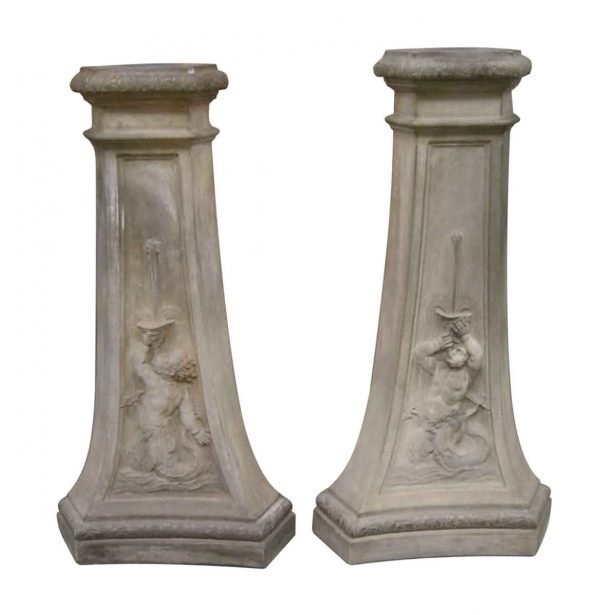 Terra Cotta Pedestals with figures - Stone & Terra Cotta