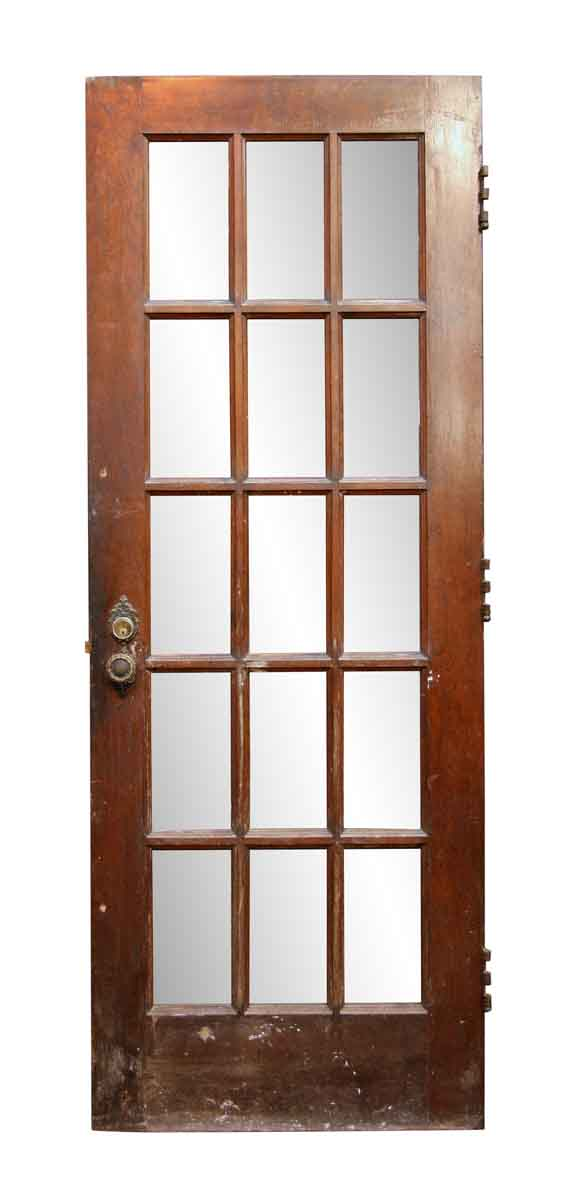 Antique Fifteen Lite Birch Door - French Doors