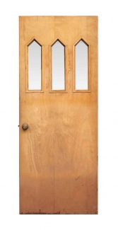 Three Lite Pine Entry Door