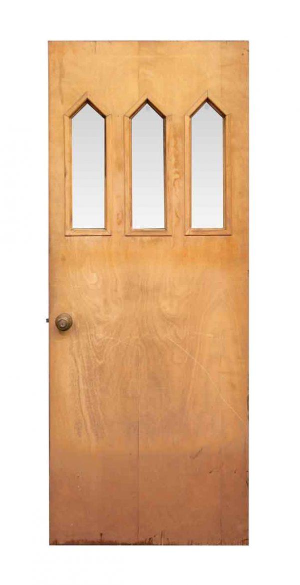 Three Lite Pine Entry Door - Entry Doors