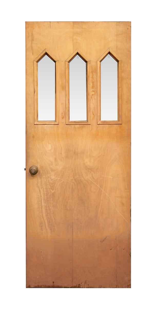 Three Lite Pine Entry Door Olde Good Things
