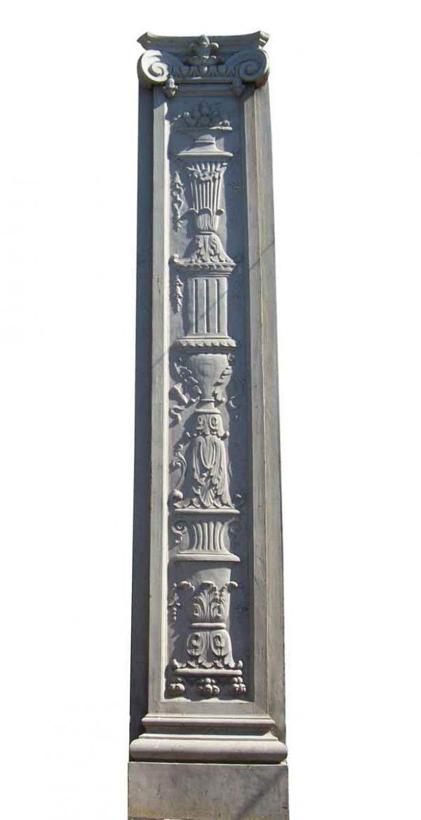 Huge 12.5 Feet Cast Iron Building Pilaster - Columns & Pilasters
