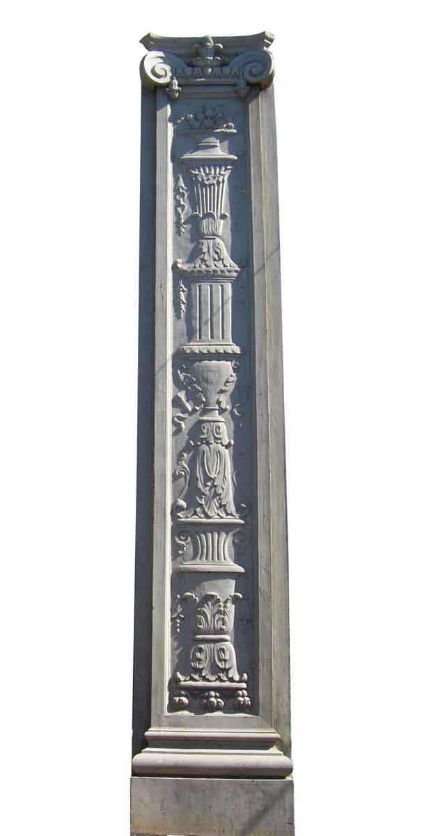 Huge 12.5 Feet Cast Iron Building Pilaster   Olde Good Things