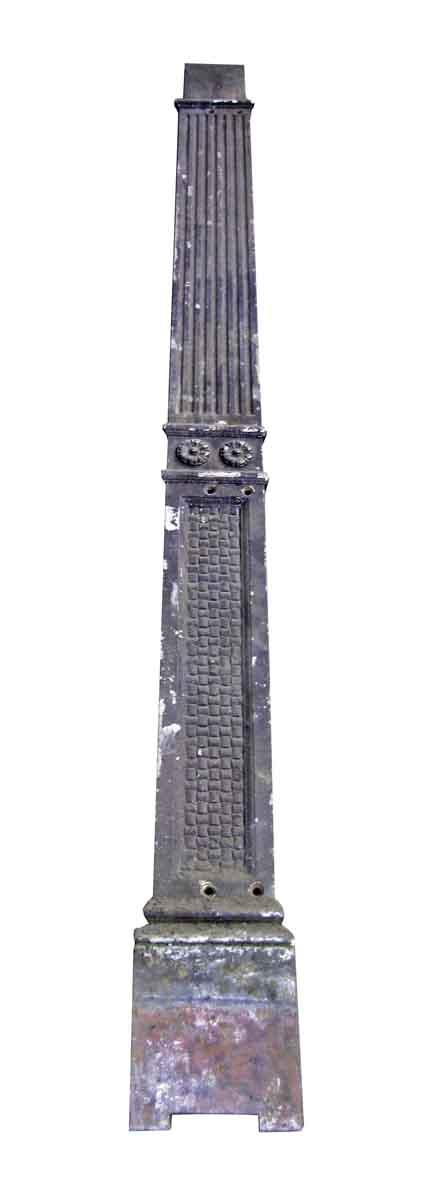 Cast Iron Basket Weave Pattern Pilaster - Columns & Pilasters