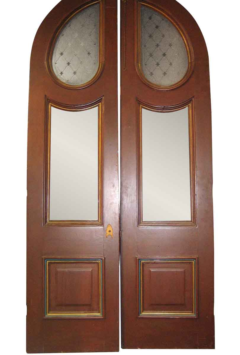 Large Pair of Arched Victorian Entrance Doors