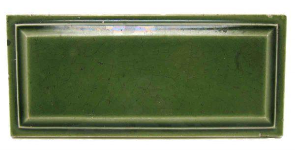 Green Beveled Edge Rectangular Tile Set - Wall Tiles