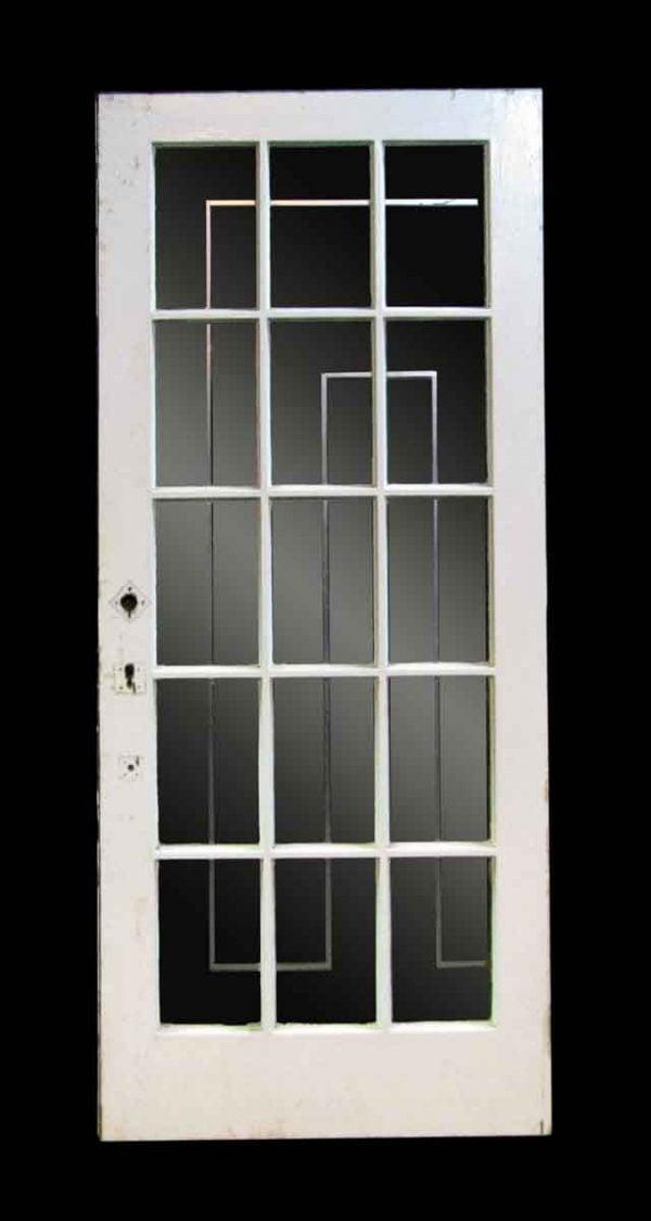 Oak French Door with Fifteen Glass Lights - French Doors