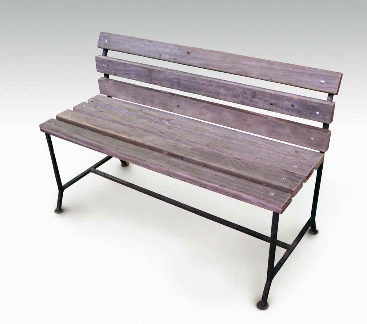 Outdoor Bench from Reclaimed Coney Island Boardwalk Wood ...