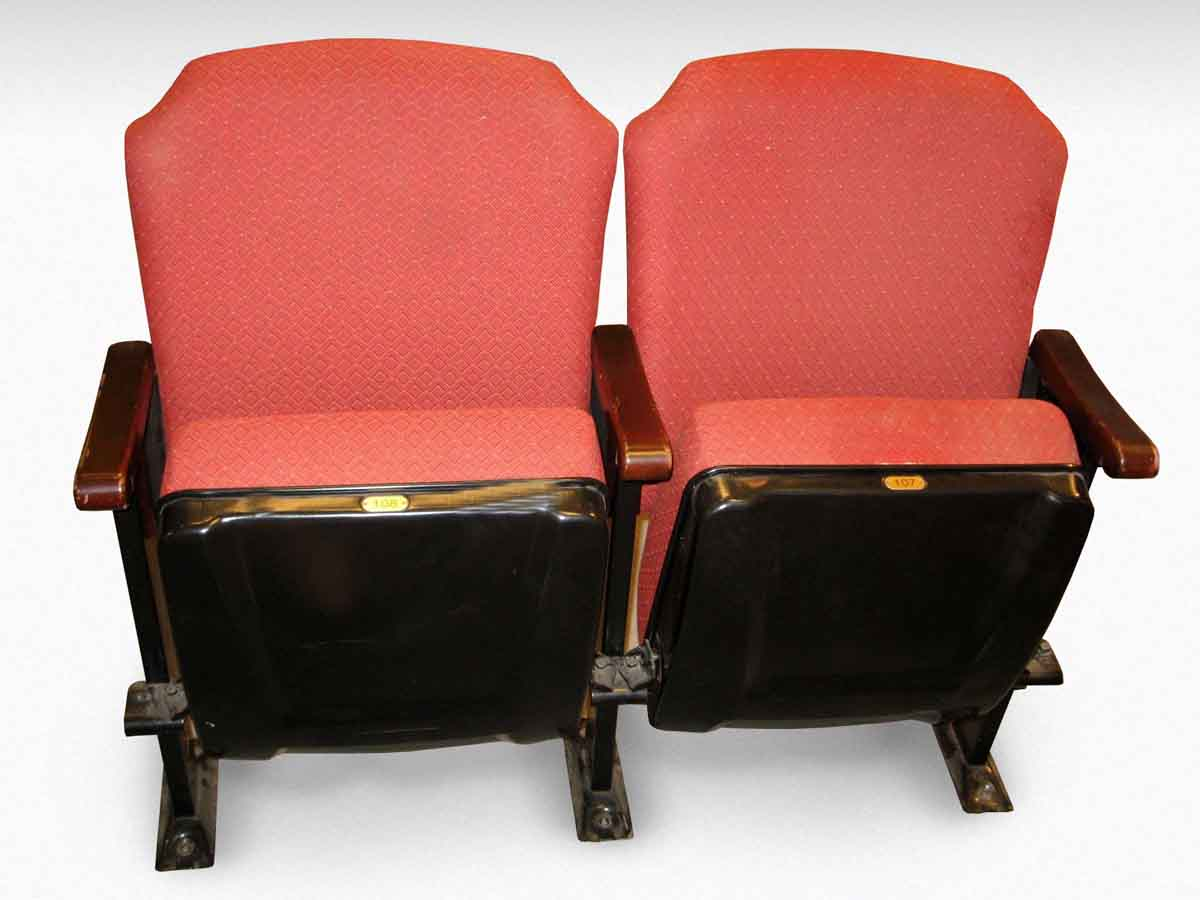 Red Upholstered Theater Seats Olde Good Things